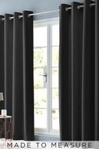 Cotton Black Made To Measure Curtains