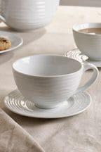 Set of 2 Malvern Tea Cup & Saucers