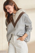 Superdry Grey Chevron Hoody