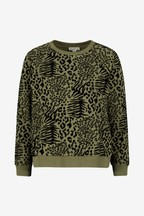 Whistles Black Animal Sweatshirt