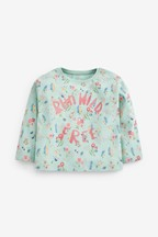 Floral Slogan T-Shirt (3mths-7yrs)