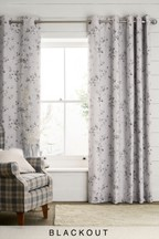 Etched Floral Eyelet Curtains