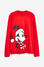 Mens Matching Family Mickey Mouse™ Christmas Long Sleeve T-Shirt