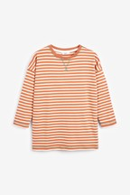 Washed Striped Long Sleeve Top