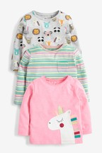 3 Pack Unicorn Long Sleeve T-Shirts (3mths-8yrs)