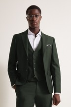 DKNY Green Slim Fit Military Jacket