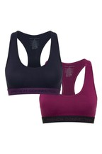French Connection Blue Plain Crop Tops Two Pack