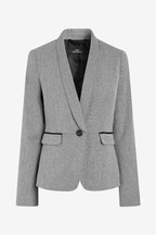 Textured Single Breasted Jacket
