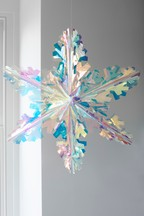 Set of 2 Iridescent Snowflakes