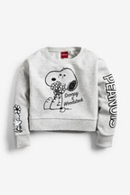 Relaxed Fit Crop Snoopy Sweatshirt (3-16yrs)