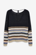 Stripe Tie Back Jumper