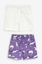 2 Pack Jersey Shorts (3-16yrs)