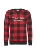 Calvin Klein Red Buffalo Check Sweatshirt