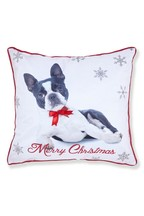 Catherine Lansfield Merry Christmas Frenchie Dog Cushion