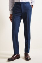 French Connection Blue Slim Fit Flannel Trousers