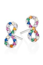 Beaverbrooks Sterling Silver Multi Coloured Infinity Circle Earrings