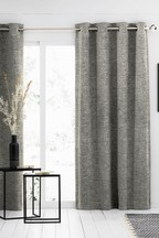 Textured Chenille Eyelet Curtains