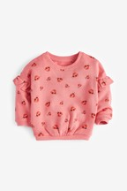 Ladybird Print Crew Sweat Top (3mths-7yrs)