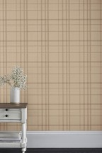 Paste The Paper Earthed Check Wallpaper