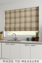 Dobby Check Ochre Yellow Made To Measure Roman Blind