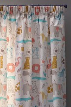 Jungle Jamboree Pencil Pleat Curtains