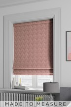 Velvet Metallic Geo Pink Made To Measure Roman Blind