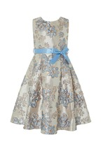 Monsoon Children Blue Donatella Jacquard Dress