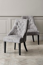 Set Of 2 Winchester Dining Chairs With Black Legs