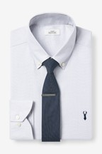 Regular Fit Easy Iron Button Down Shirt with Navy Tie