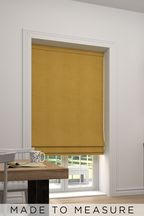 Soft Velour Honey Yellow Made To Measure Roman Blind