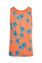 F&F Coral Palm Tree All Over Print Vest