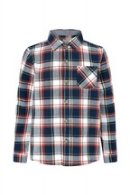 Monsoon Children Navy Check Shirt