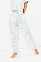 Oasis White Pineapple Trousers