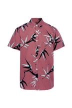 F&F Pink Large Scale Floral Rose Shirt