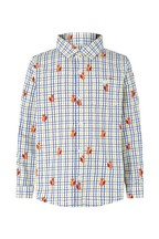 Monsoon Children Cream Caleb Fox Check Shirt