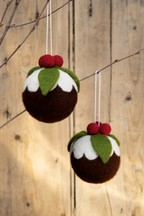 Set of 2 Pudding Baubles