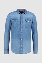 Superdry Blue Denim Long Sleeve Shirt