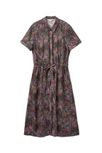 Joules Blue Winslet Print Button Front Shirt Dress