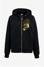 Nike Black Shine Zip Through Hoody