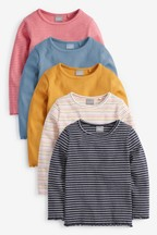 5 Pack Long Sleeve T-Shirts (3mths-8yrs)