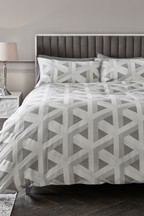 Optical Geo Duvet Cover And Pillowcase Set