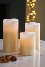 Set of 3 Orange & Star Anise Real Wax LED Candles