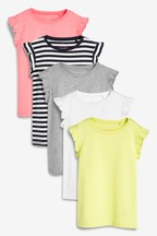 Neon Stripe Vests Five Pack (3-16yrs)