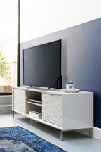 Mode  Cashmere Gloss Wide TV Stand