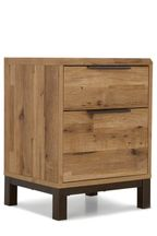 Bronx Metal 2 Drawer Bedside Table