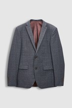 Slim Fit Empire Mills Signature British Wool Suit: Jacket