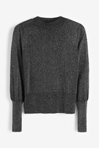 Sparkle Volume Sleeve Jumper