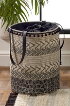 Patterned Fabric Laundry Bag
