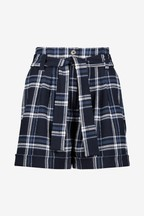 Whistles Check Belted Shorts