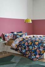 Tropical Floral Duvet Cover And Pillowcase Set